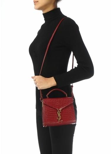 Saint Laurent Saint Laurent Cassandra Mini  Kadın Deri Omuz Çantası 101612686 Kırmızı